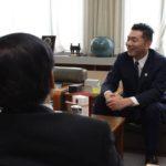 江別市長を訪問してベトナム ハノイからの帰国を報告しました。